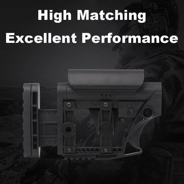 LUTH AR MBA 3/4 전술 나일론 에어건 CS 스포츠 페인트 볼 Airsoft 전술 BD556 수신기 기어 박스에 대한 확장 주식