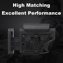 LUTH AR MBA 3/4 tático náilon ajustável estendido estoque para armas de ar cs esporte paintball airsoft tático bd556 receptor caixa de velocidades