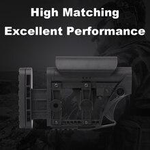 LUTH AR MBA 3/4 טקטי ניילון מתכוונן מורחב המניה עבור רובי אוויר CS ספורט פיינטבול Airsoft טקטי BD556 מקלט תיבת הילוכים