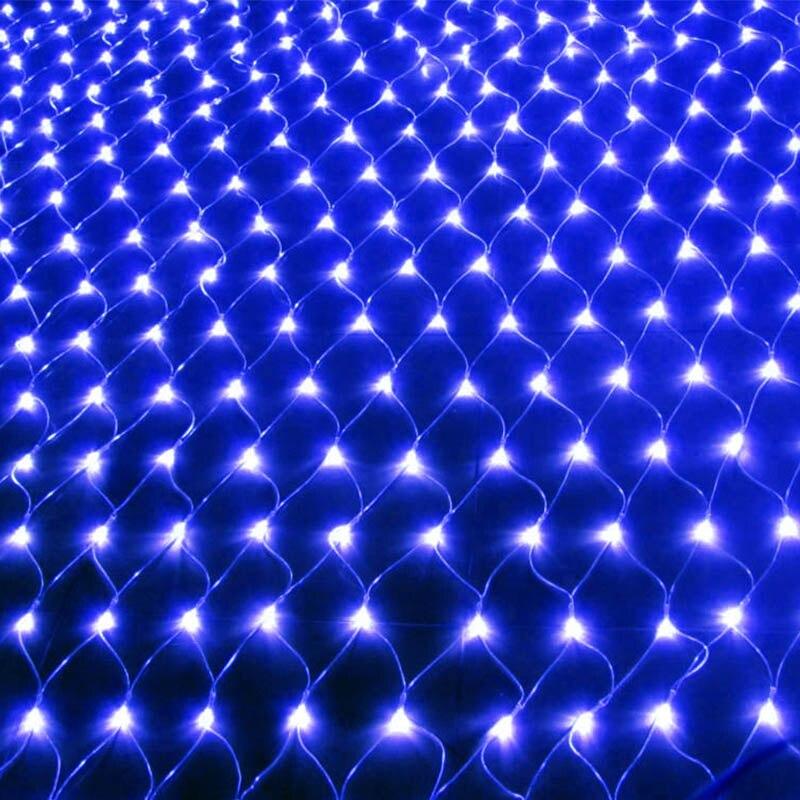 Christmas LED String Fairy Lights Net Mesh Curtain Xmas Wedding Party Outdoor Indoor Waterproof Lamp EU Plug LB88