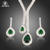 White Gold Plated Poem Of Spring Top Quality Swiss Cubic Zirconia Bridal Jewelry Sets FREE SHIPPING