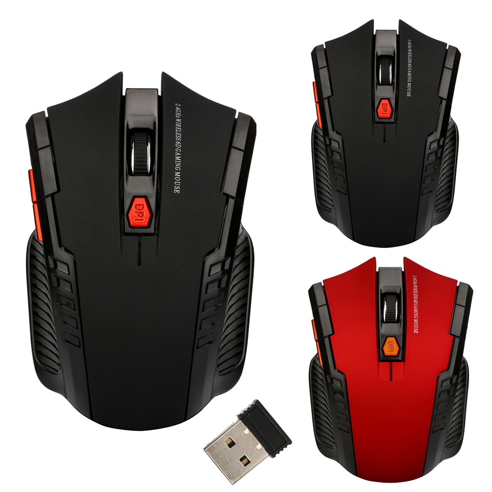 2.4GHz Wireless Gaming Mouse 1200 DPI 6 Keys USB 2.0 Receiver Pro Gamer mice Optical