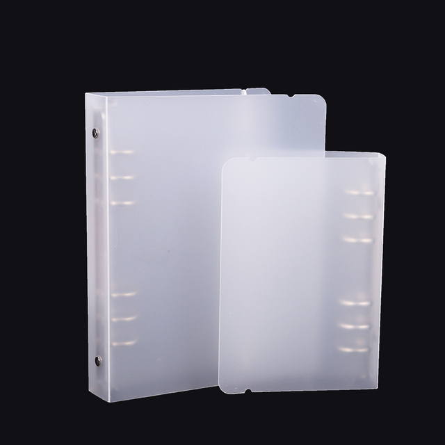 1PC Translucent Filing Product PP Loose Leaf Spiral Binder Matte 6 Holes Notepad Cover Notebook Accessories Stationery Supplies