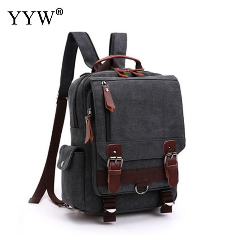 YYW Preppy Style Contrast School Backpack Bag For College Simple Design Men  Casual Daypacks Mochila Male 6e6e3fa67f906
