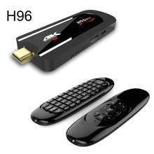 2017 H96 Pro 4 K TV Stick Android 7.1 Smart TV dongle Amlogic S912 Octa Core 2G 8G H.265 DLNA 4 K Pequeño Mini pc W/Fly Air ratón