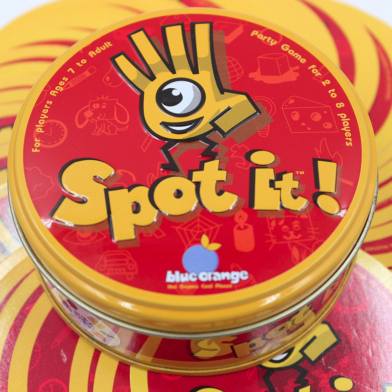 55 cards Spot it party game Board Card game Travel game for kids adult Family Fun Kill time toy game