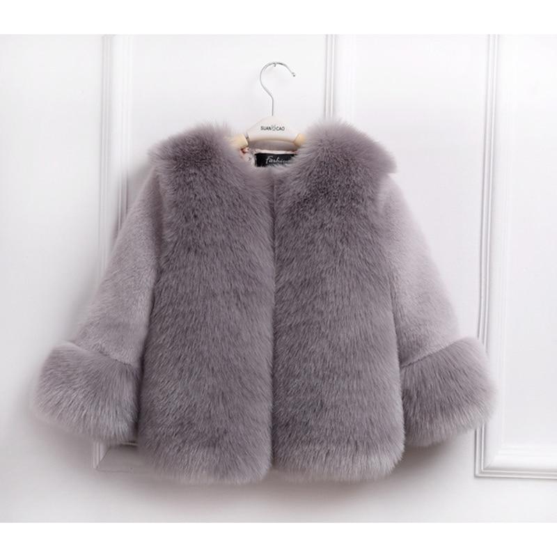 Baby Girls Fur Jackets Coats Children Faux Fox Fur Stitching Winter Coat For Girl Thicken Warm Jacket Fashion Kids Fur Outerwear стоимость