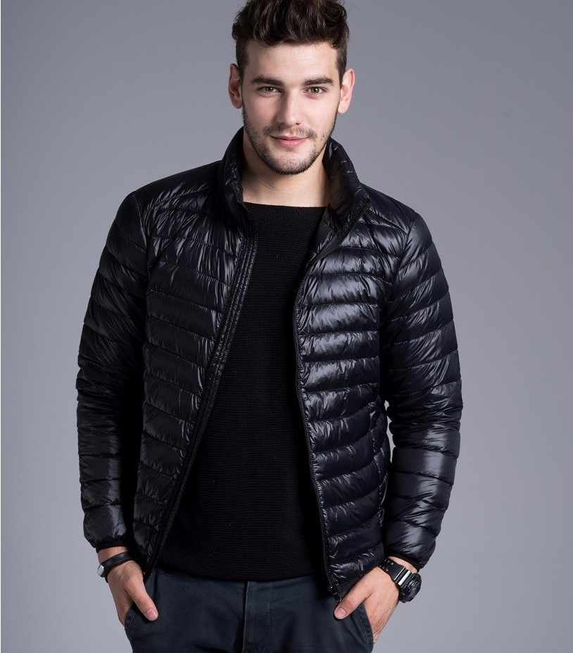 Men casual warm Jackets solid thin breathable Winter Jacket Mens outwear Coat Lightweight parka Plus size XXXL hombre jaqueta 5