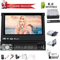 Radio Receiver Support 1080P/Video & Audio Output/WiFi/USB/SD Single 1 Din Android 6.0 Quad Core System Car DVD Player In Dash