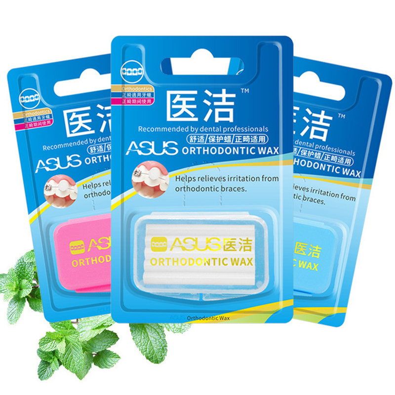 5pcs Orthodontic Wax Mint Fruit Oral Care Teeth Care Wax For Braces Gum Irritation Orthodontic Braces For Adult