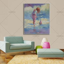 Hand Painted oil painting Wall Art Home Decoration Picture Abstract Paintings pretty girl Oil Painting On Canvas home decor