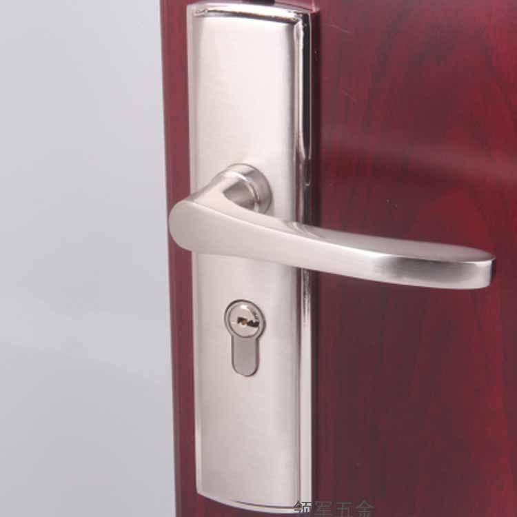Zinc Alloy Indoor Door Lock Office Quick Lift Lock Body Lock Cylinder Hardware Gate Lock Handle Length 14.5CM baldwin hardware 5170s 320 rmr estate classic lever indoor door