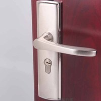 Zinc Alloy Indoor Door Lock Office Quick Lift Lock Body Lock Cylinder Hardware Gate Lock Handle Length 14.5CM