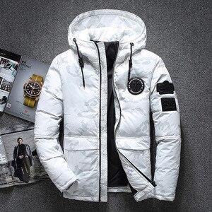 Image 2 - ฤดูหนาวใหม่อบอุ่นเป็ดสีขาว Downs แจ็คเก็ตผู้ชาย Outwear หิมะหนา Parkas Hooded Coat ชาย Windproof Downs เสื้อผู้ชาย
