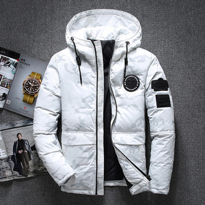 Image 2 - New Winter Warm White Duck Downs Jacket Men Outwear Thick Snow Parkas Hooded Coat Male Casual Thermal Windproof Downs Jacket Men