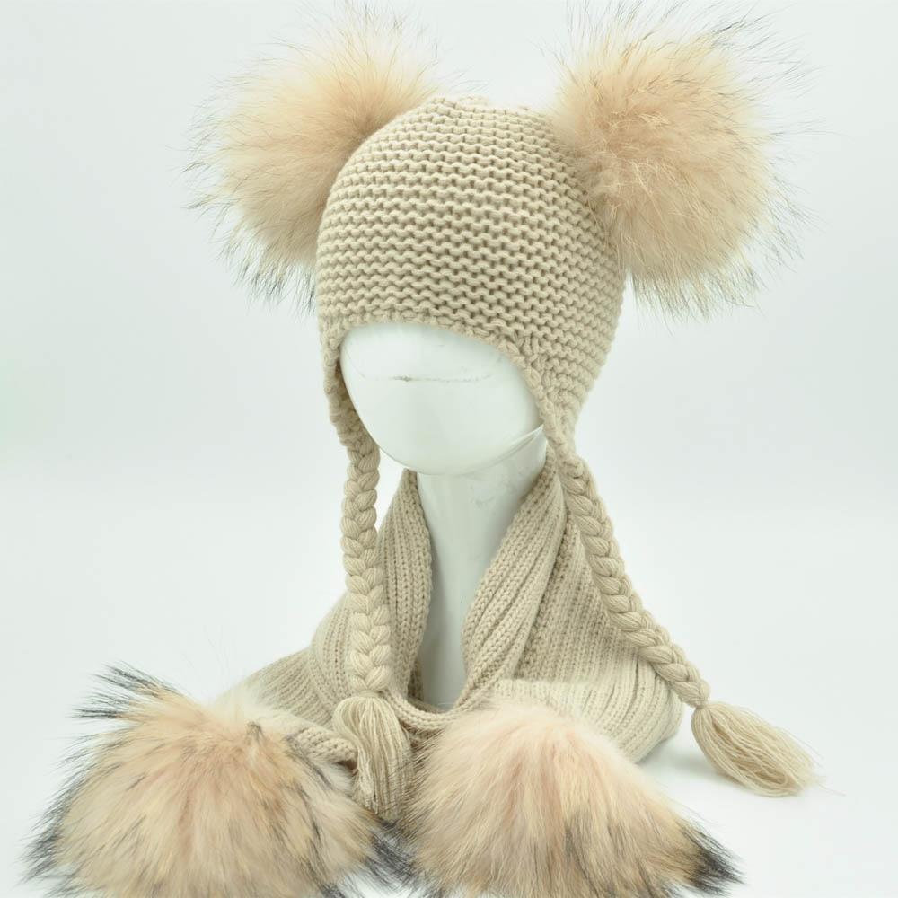 Bonnet et écharpe luxe et chaud pour filles garçons
