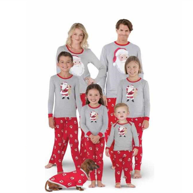 a1656218e6 new Christmas Pajamas New Year Dad Mother Daughter Outfits Family Matching  Clothes Sleepwear Red Cotton Pajama Set Family Look