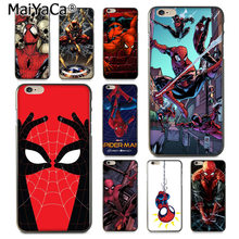 MaiYaCa Marvel Spinne Mann Comics Luxus High-end-Schutz telefon Fall für iPhone 8 7 6 6S Plus X XS XR XSMax 10 5 5S SE Coque(China)