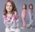 Meninas Novos fatos de Treino de Outono Impressão Flor de Manga Longa Esportes Casuais das Crianças Se Adapte Às Crianças Hoodies Camisolas Sets
