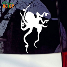 Dancing Octopus Vinyl Decals Funny Animal Car Styling Sticker Removable Waterproof Decals For Auto Decoration