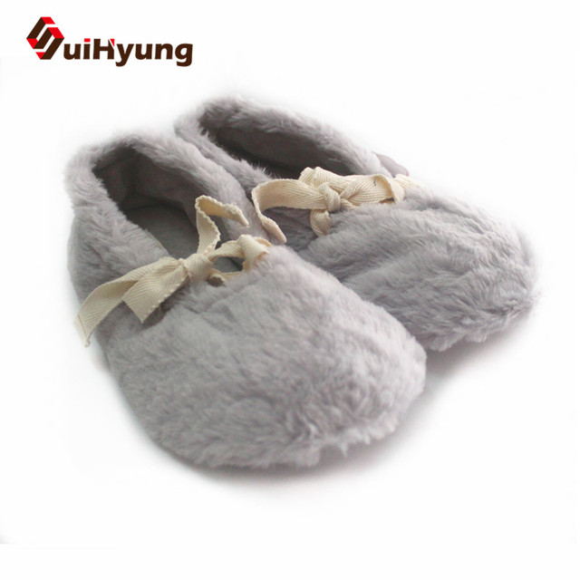 c6021bccc72 Suihyung Cotton Shoes 2018 New Women Winter Warm Home Slippers Indoor Floor Shoes  Female Bedroom Mute Non-slip Slippers Pantufas