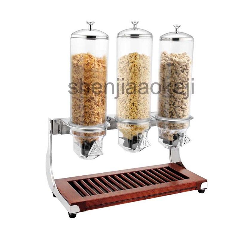 Ev Aletleri'ten Mutfak Robotları'de 4L * 3 ahşap blok yulaf makinesi yulaf fındık kurutulmuş gıda saklama kapları çeşitli tahıllar neme dayanıklı depolama şişeleri 1 pc title=