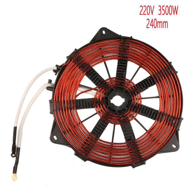 3500W 240mm heat coil, all copper wire induction heating panel ,big power induction cooker accessory xeoleo commercial induction 3500w stainless steel induction cookers with timing for hotpot soup stewing stir fly