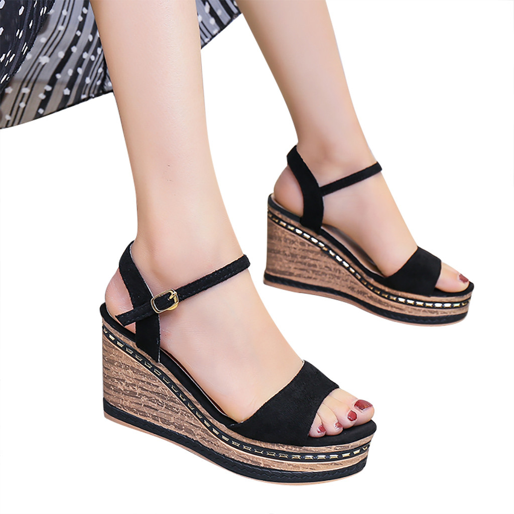SIKETU Shoes Female Sandalias Platform Mujer Lace-Up Wedges -G35
