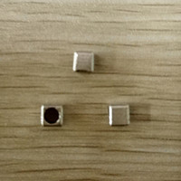 300pcs Antique Silver Tone Base Metal Bead - Cube, 4x4mm - QM0855