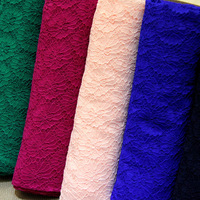 11 Colors High Quality Cord Lace Fabric Fushia Green Royal Blue Navy Blue Pink Yellow Allover