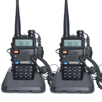 2pcs Baofeng UV 5R Walkie Talkie 128 Dual Band UHF VHF 136 174MHz 400 520MHz Baofeng