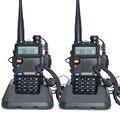 2 pcs baofeng uv-5r walkie talkie 128 dual band uhf & vhf 136-174 mhz & 400-520 mhz baofeng uv 5r rádio 5 w dois sentidos portátil rádio