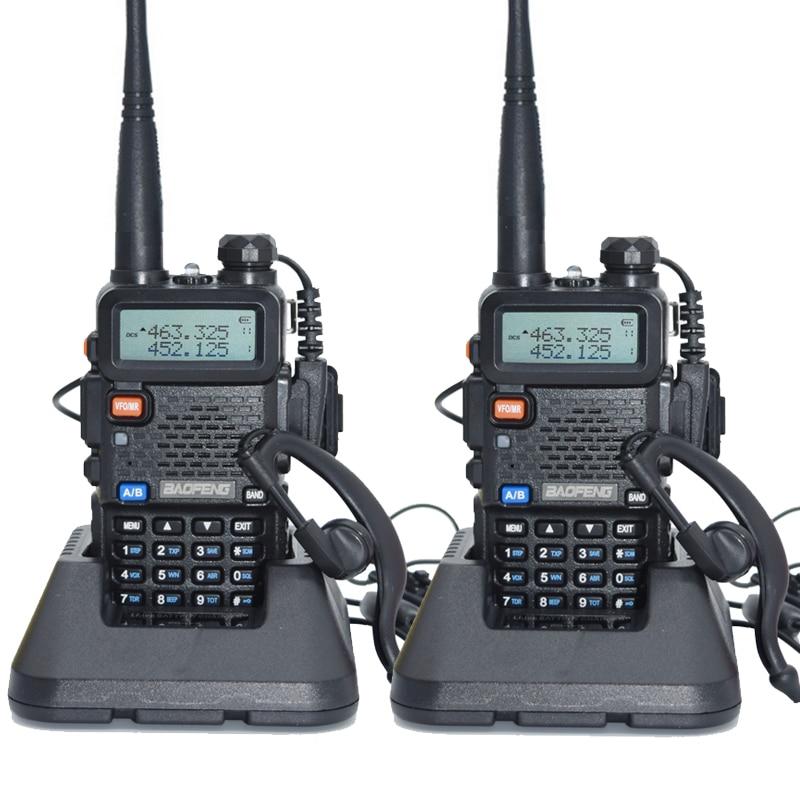 imágenes para 2 unids Baofeng UV-5R Walkie Talkie 128 de Banda Dual UHF y VHF 136-174 MHz y 400-520 MHz Baofeng UV 5R Radio Portátil 5 W de Dos Vías Radio