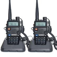 2 шт. baofeng уф-5r Walkie Talkie рации 128 Dual Band UHF & VHF 136-174 МГц и 400-520 МГц Baofeng УФ-5R портативна Рация 5 Вт Двухстороннее радио