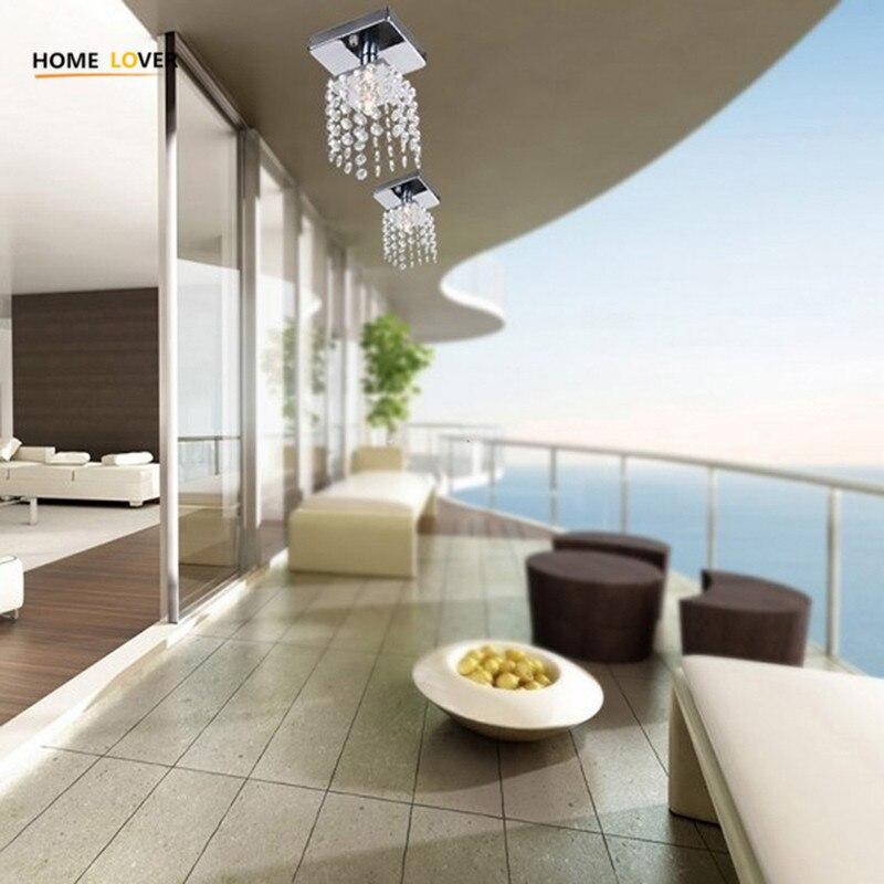 Home Lover Modern crystal chandelier lighting luminaire led Bedroom Living room Balcony crytstal chandelier square lighting