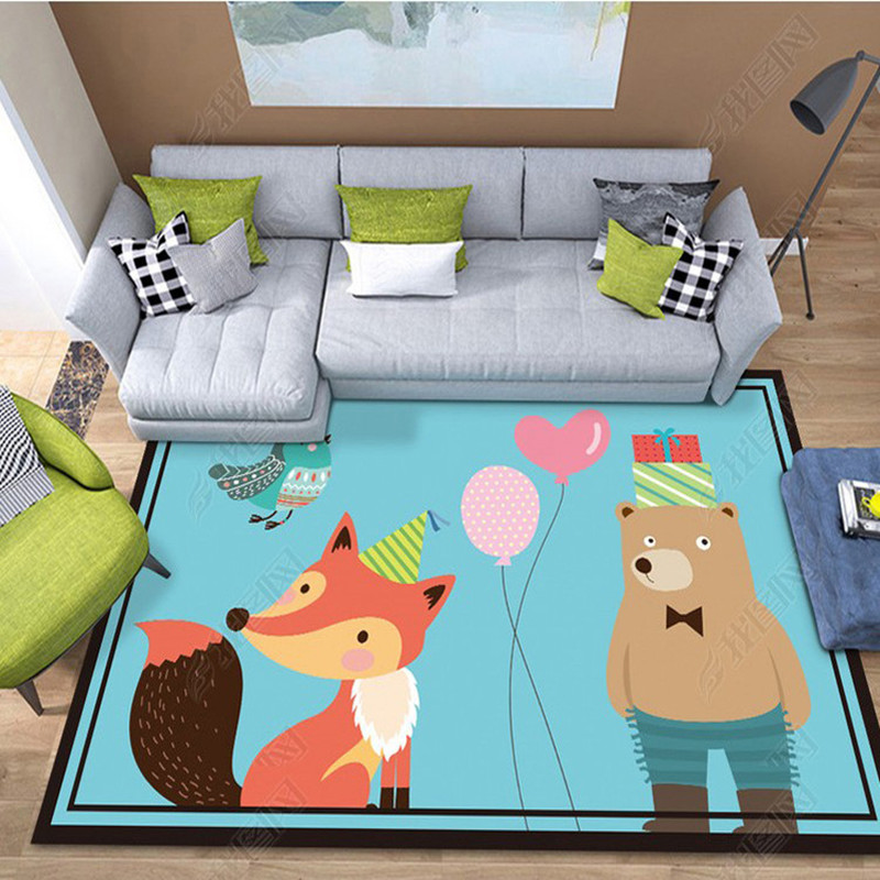 Cute Cartoon Animal Printed Carpets For Living Room Soft Carpet Kids Room Game Rugs Child Bedroom Computer Chair Floor Mats/Rug