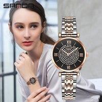 Inlaid Gems Dial Fashion Female Watch Waterproof Classic Charm Steel Belt Reloj Mujer Stainless Buckle Ladies Watch Quartz Women
