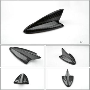 Image 4 - אוטומטי סיבי פחמן כריש סנפיר אווירי גג סגנון אוטומטי שונה רכב אנטנות רכב סטיילינג אנטנה