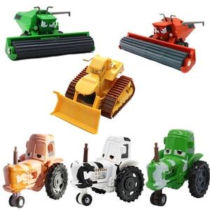 Image 1 - 1:55 Disney Pixar Cars 3 2 Frank And Tractor Lightning McQueen Mater Jackson Storm Ramirez Diecast Toys Car Kid Christmas Gift