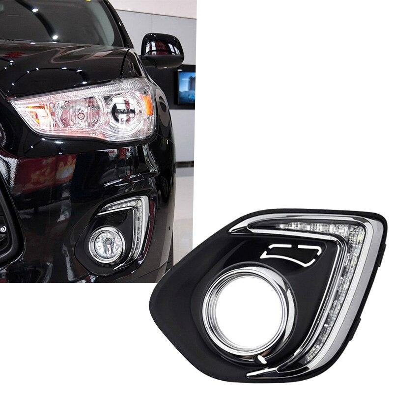 New Car Accessories LED DRL Daytime Running Lights Daylight Fog light LED fog lamp for MITSUBISH ASX 2013 2014