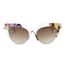 Retro Sunglasses with Transparent Frame