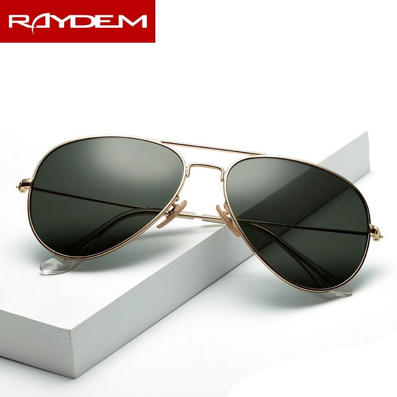 2018 New sunglasses men vintage Pilot Polarized Glass lens Sun glasses Driving Fishing oculos Mirror reflctive
