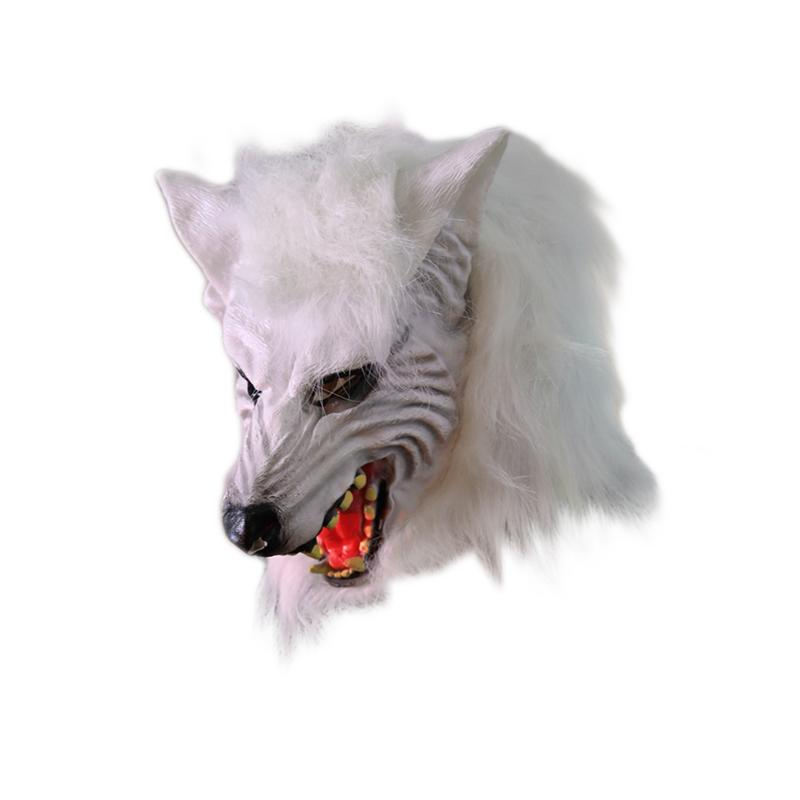 Halloween Wolf Mask Animal Horror Cosplay Dress up Haunt House Masquerade party