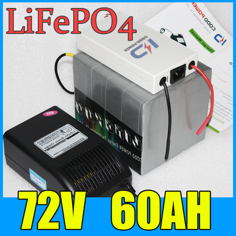 <font><b>72V</b></font> Golf <font><b>Battery</b></font> Pack <font><b>60AH</b></font> LiFePO4 Long life <font><b>Battery</b></font> 4000W Electric bicycle Scooter <font><b>lithium</b></font> <font><b>battery</b></font> image