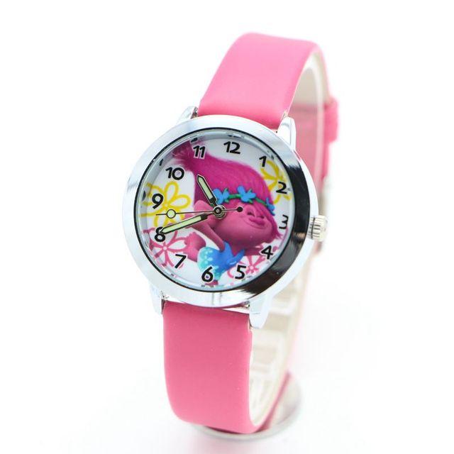 new arrived Trolls Fashion Kids cartoon watch children wristwatches clock girl b