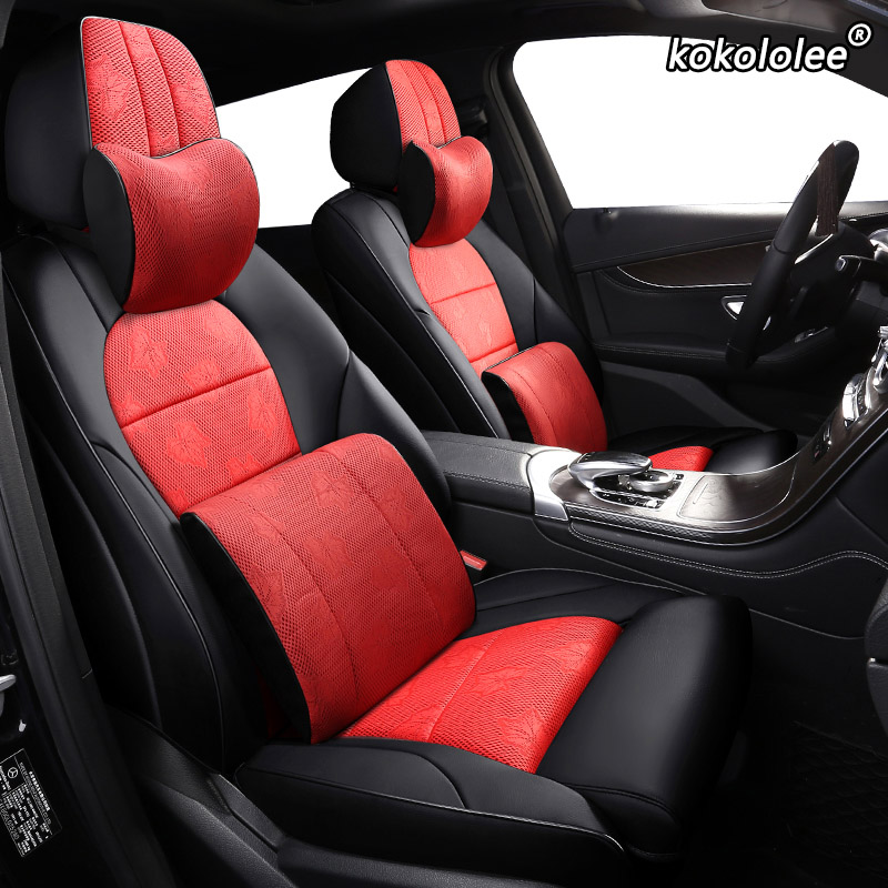 DODGE CALIBER  FULL CAR SEAT COVER SET RED /& BLACK CLOTH