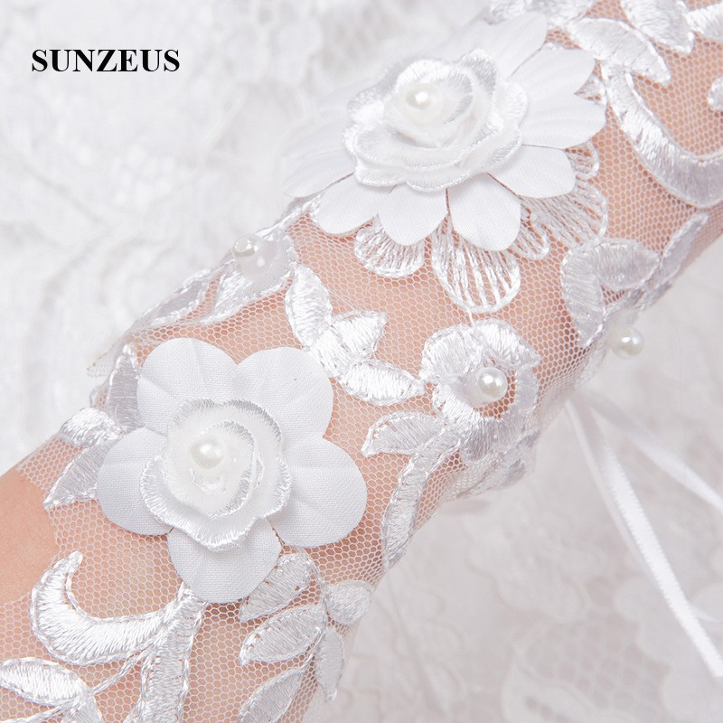 Opera Length Wedding Gloves Fingerless White Lace Gloves for Women - Bruiloft accessoires - Foto 2