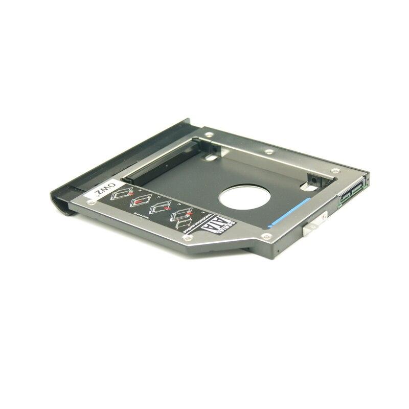 WZSM New 9.5 milímetros SATA 2nd HDD SSD Hard Disk Drive Caddy para Lenove Ideapad 110-15acl 110-15IBR suporte Com parafuso