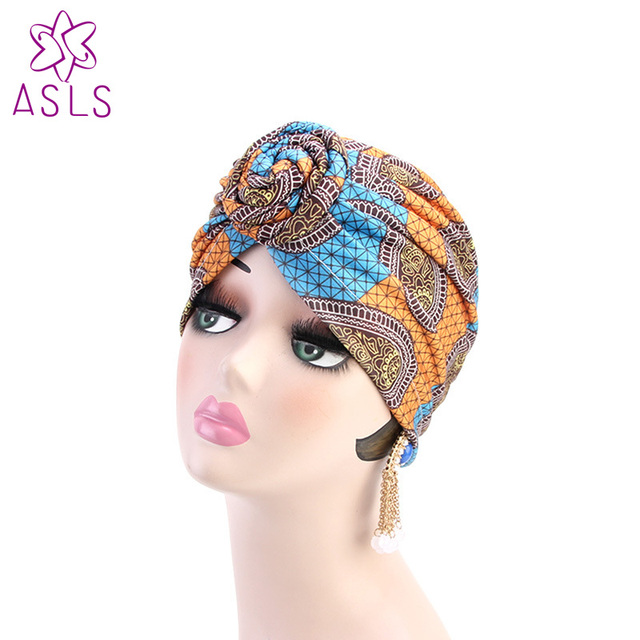 New Fashion Knotted Turban Hat for Women Twist Knot India Hat Ladies Chemo  Cap Muslim turban 2c7e8aaf94a
