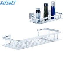 SAFEBET Space Aluminum Bathroom Shelf Shower Shampoo Soap Cosmetic Shelves Bathroom Accessories Storage Organizer Rack Holder